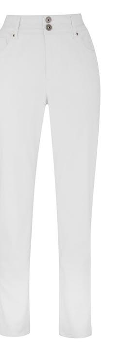 White Shape & Sculpt High Waist Straight Leg Jeans Regular Length