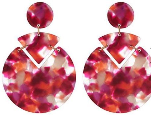 Accessorize Colour Block Resin Earrings