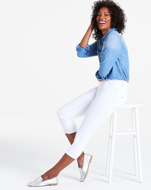 Shape & Sculpt White Crop Jeans