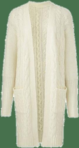 Cosy Ivory Longline Deep Cuff Cardigan