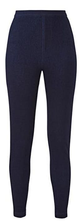 Indigo Jersey Denim High Waist Jeans