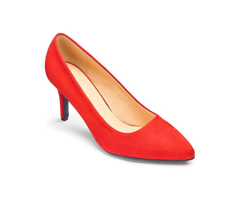 Heavenly Soles Court Shoes Wide E Fit