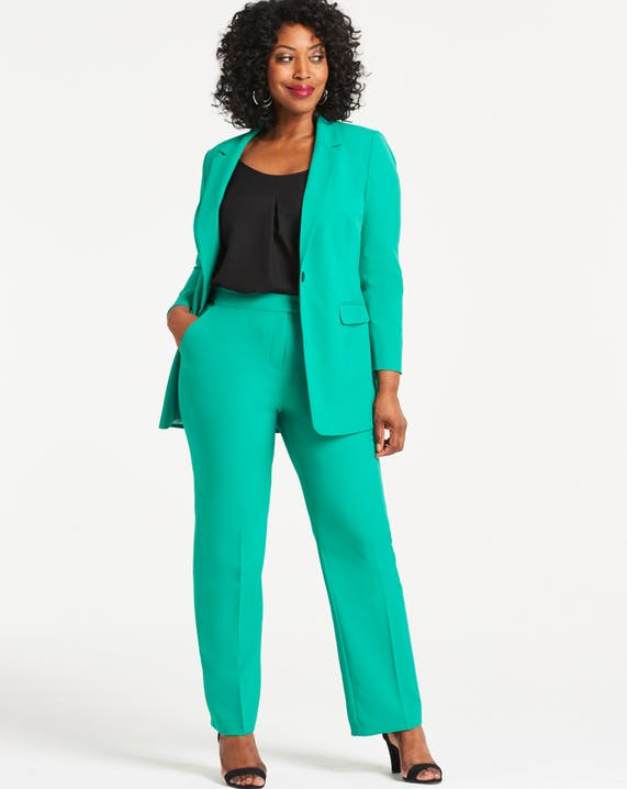 Essential Workwear Green Straight Leg Trousers