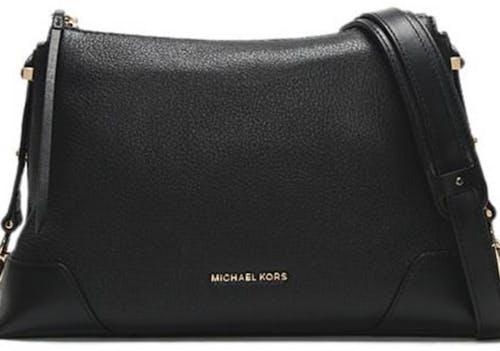 Michael Kors Medium Crosby Pebbled Leather Messenger Bag