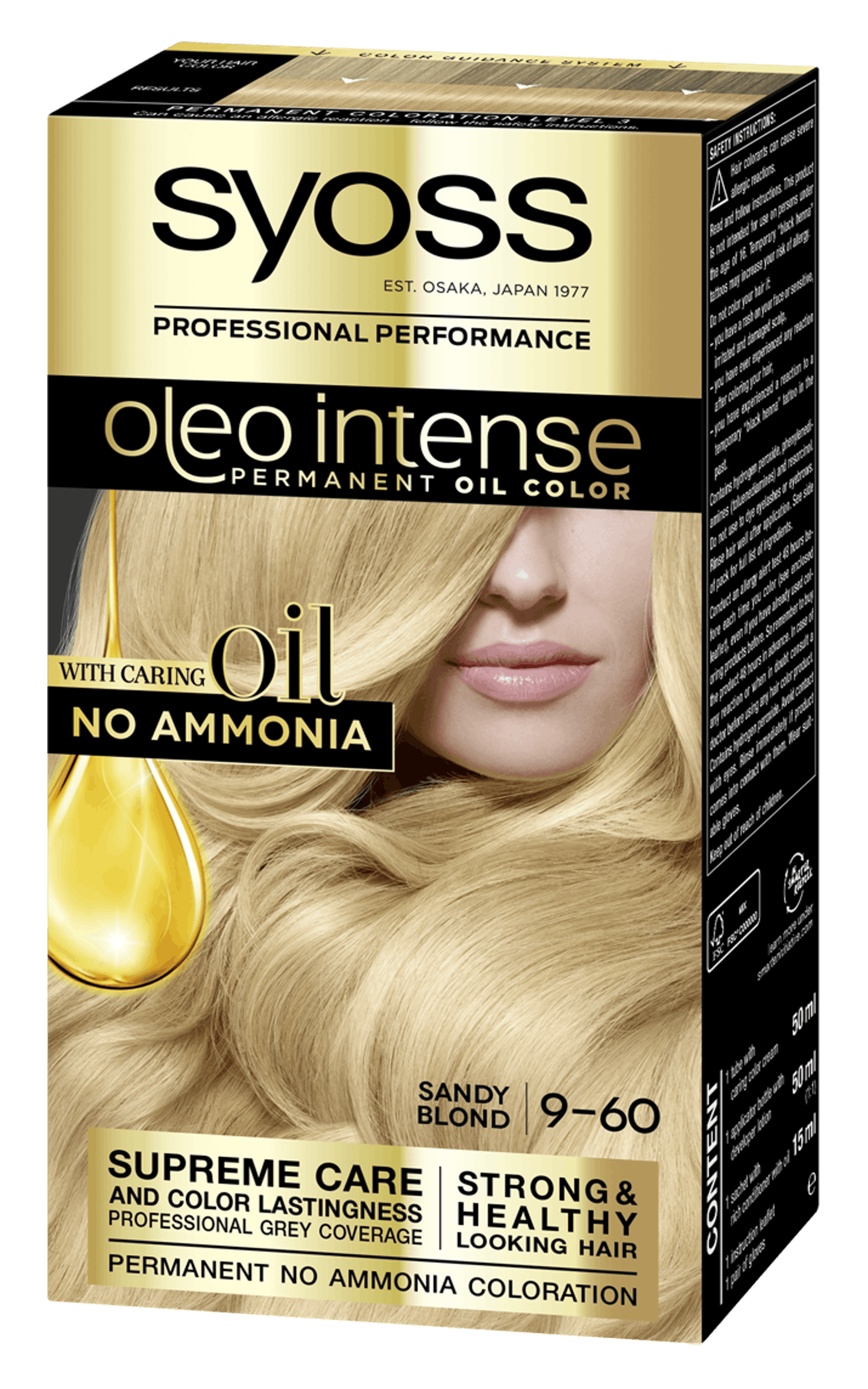 Syoss Oleo Intense Permanent Oil Color 9-60 Sandy Blond