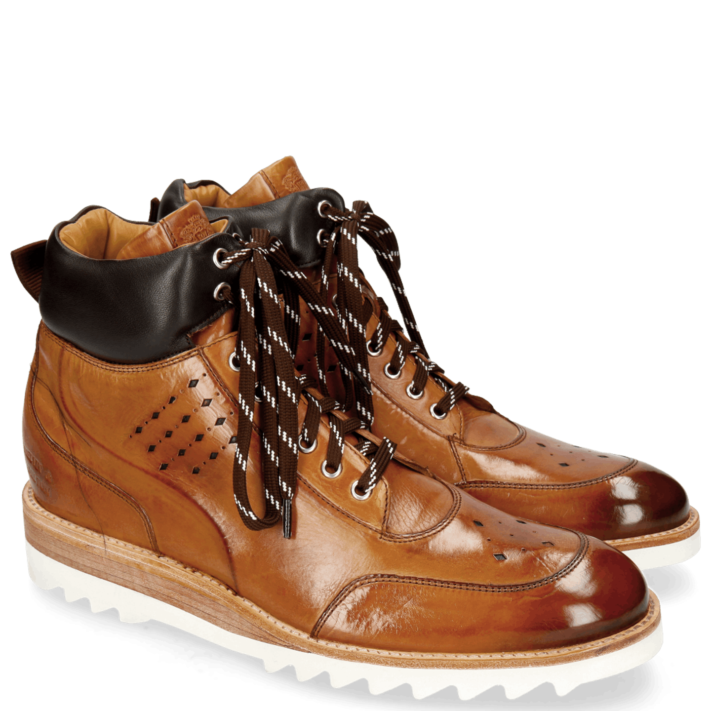 Trevor 28 Tan Nappa Dark Brown