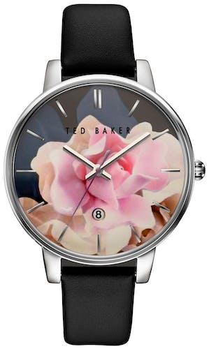 Cette montre TED BAKER se compose d'un Boîtier Rond de 42x48mm et d'un bracelet en Cuir Noir