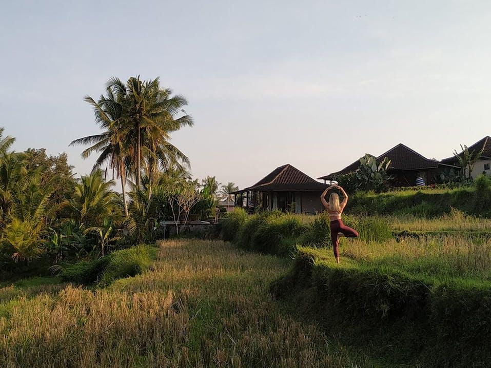 Yogalehrer werden auf Bali