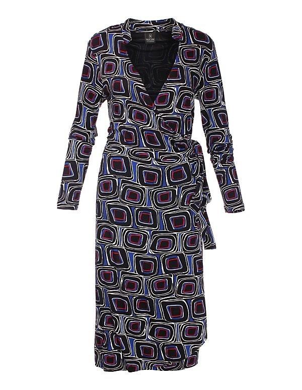 Jerseykleid mit V-Ausschnitt