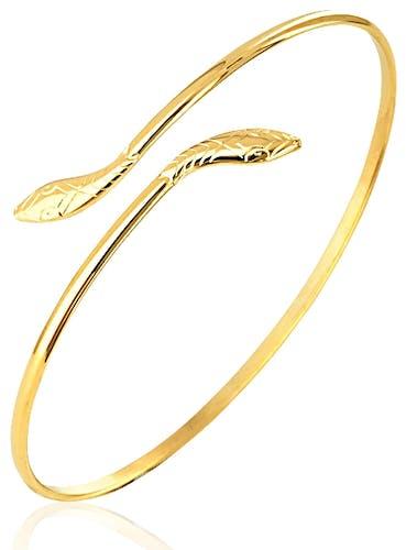 Ce Bracelet CLEOR est en Plaqué Or en forme de Serpent