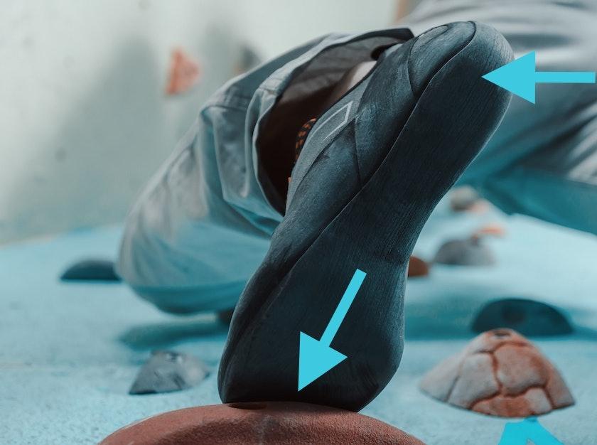 der richtige Fußeinsatz beim Bouldern