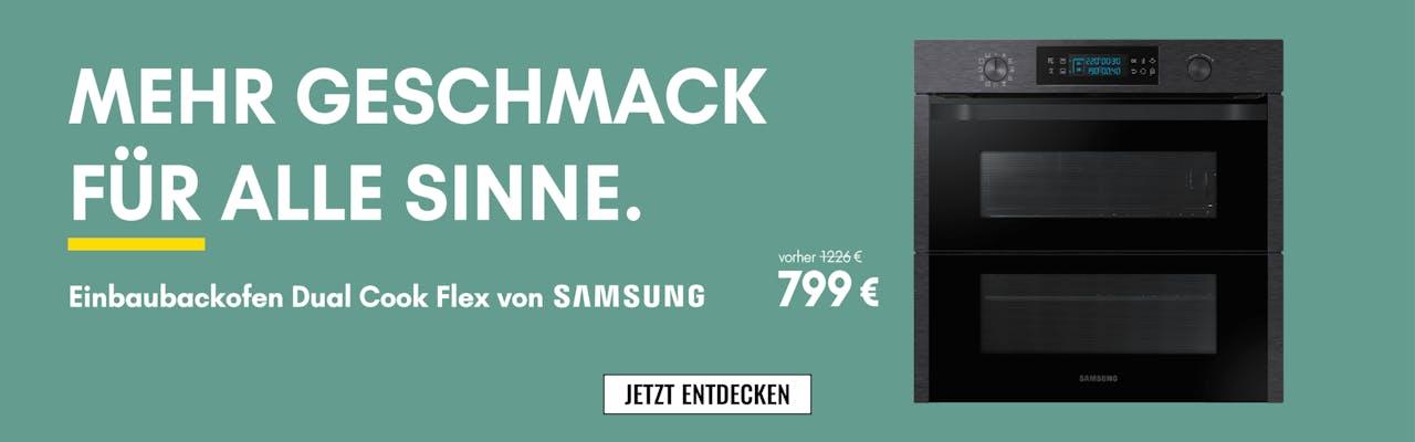 Einbaubackofen Dual Cook Flex von Samsung