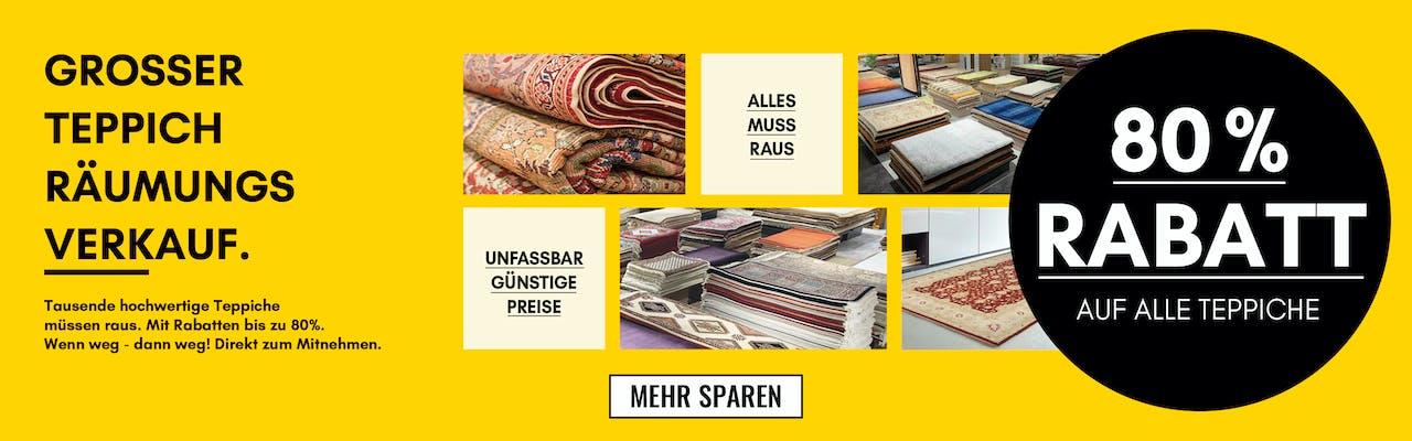 Großer Teppichräumungsverkauf