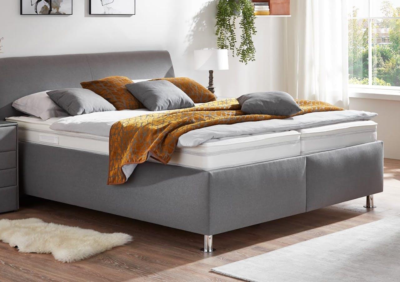 Polsterbett Comfort PB 2.0 in Sierra grau, Härtegrad 3/4, Liegefläche 180 x 200 cm