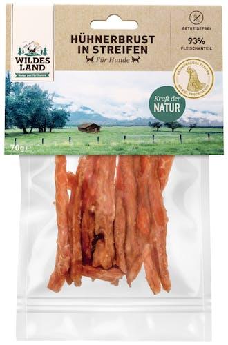 Wildes Land - Kausnack - Hühnerbrust in Streifen 70g (getreidefrei)