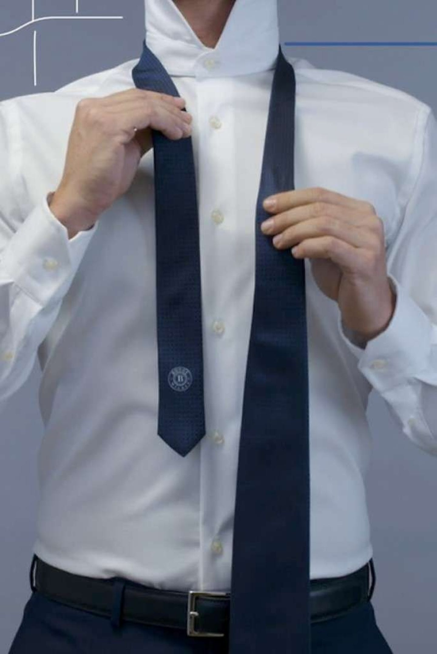 how to put on a tie boggi milano