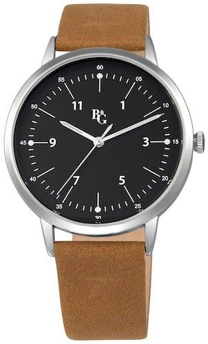 Cette montre B&G se compose d'un Boîtier Rond de 40 Mm et d'un bracelet en Cuir Marron
