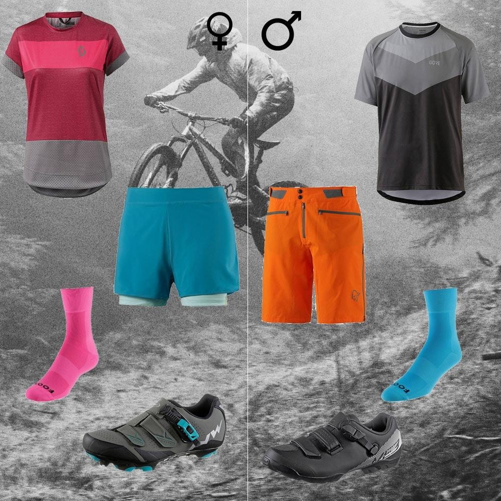 Mountainbike Outfit für Frauen und Männer