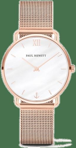 Montre PAUL HEWITT Femme avec Boîtier Rond 33 mm et Bracelet en Acier Rose