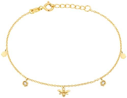 Ce Bracelet SOLIS est en Argent 925/1000 Jaune et Oxyde