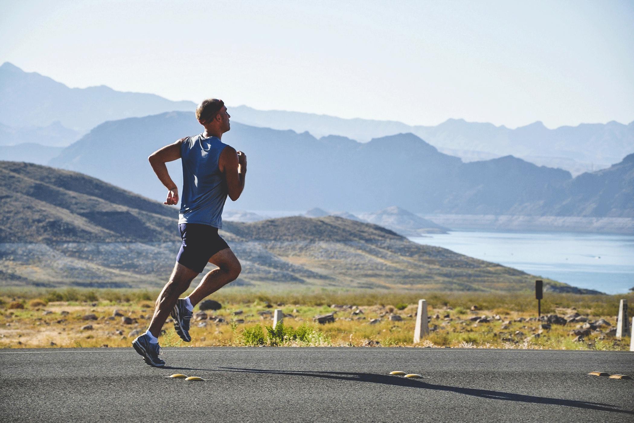 Laufen im Sommer, Running, SportScheck, Man running, desert,