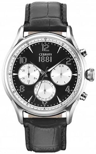 Cette montre CERRUTI 1881 se compose d'un bracelet en Cuir Noir
