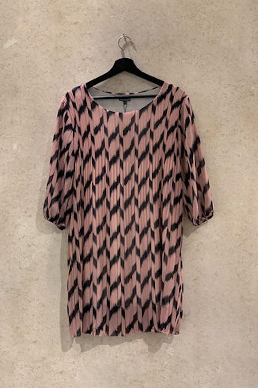 Plissee Kleid mit Print