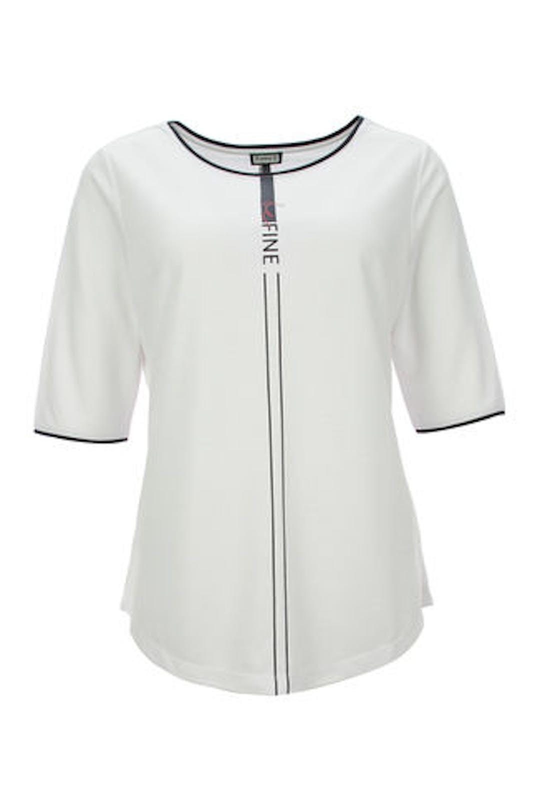 Shirt mit Streifenmotiv
