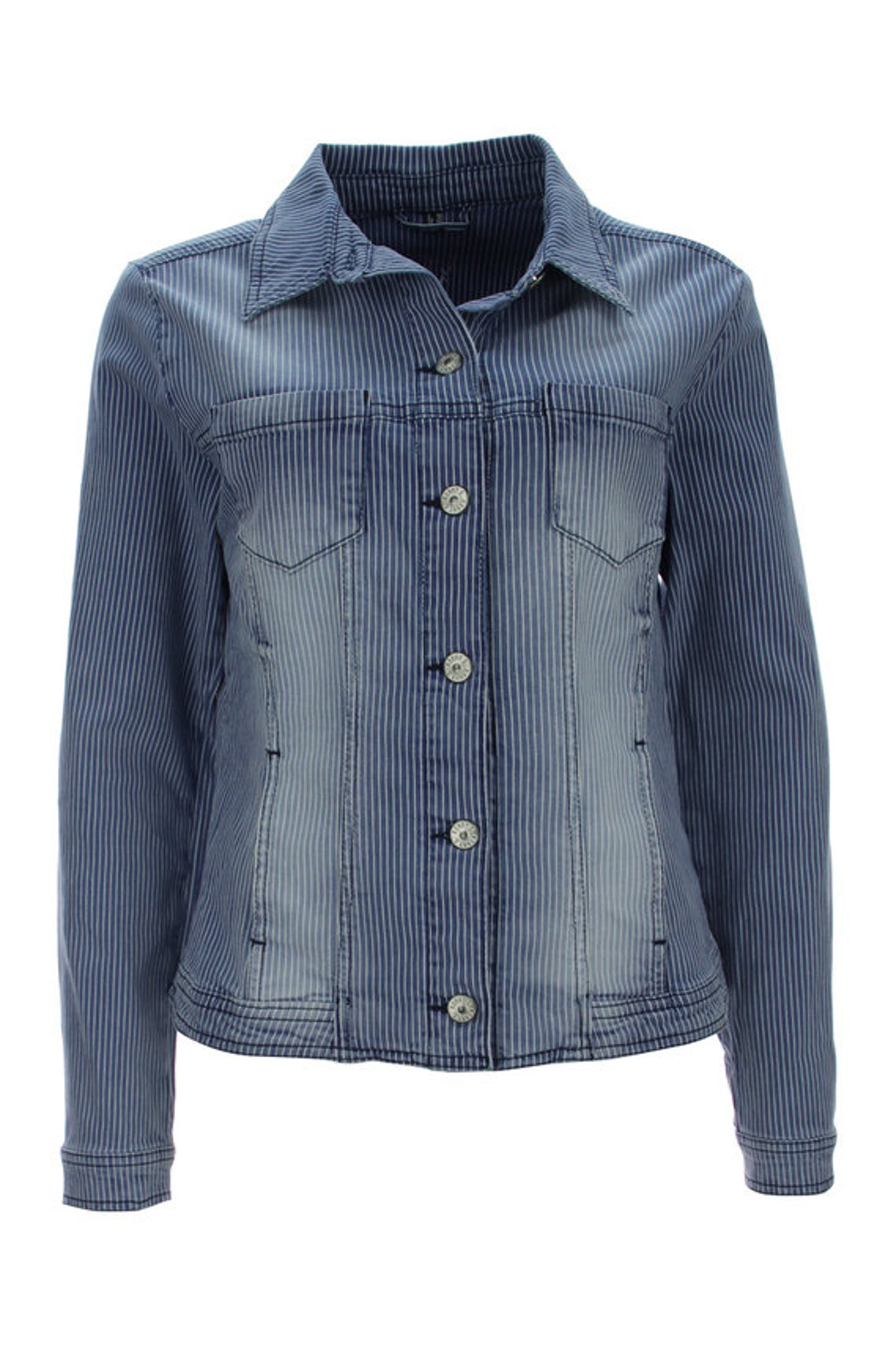 Streifen Jeansjacke