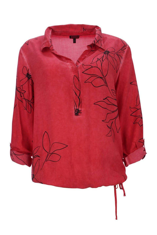 Blumen Vintage Bluse