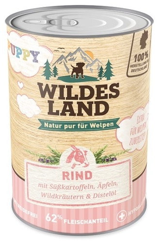 Wildes Land Nassfutter Puppy Rind