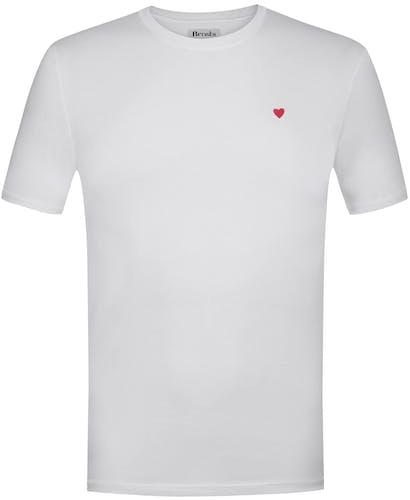 Brosbi. T-Shirt white, Lodenfrey