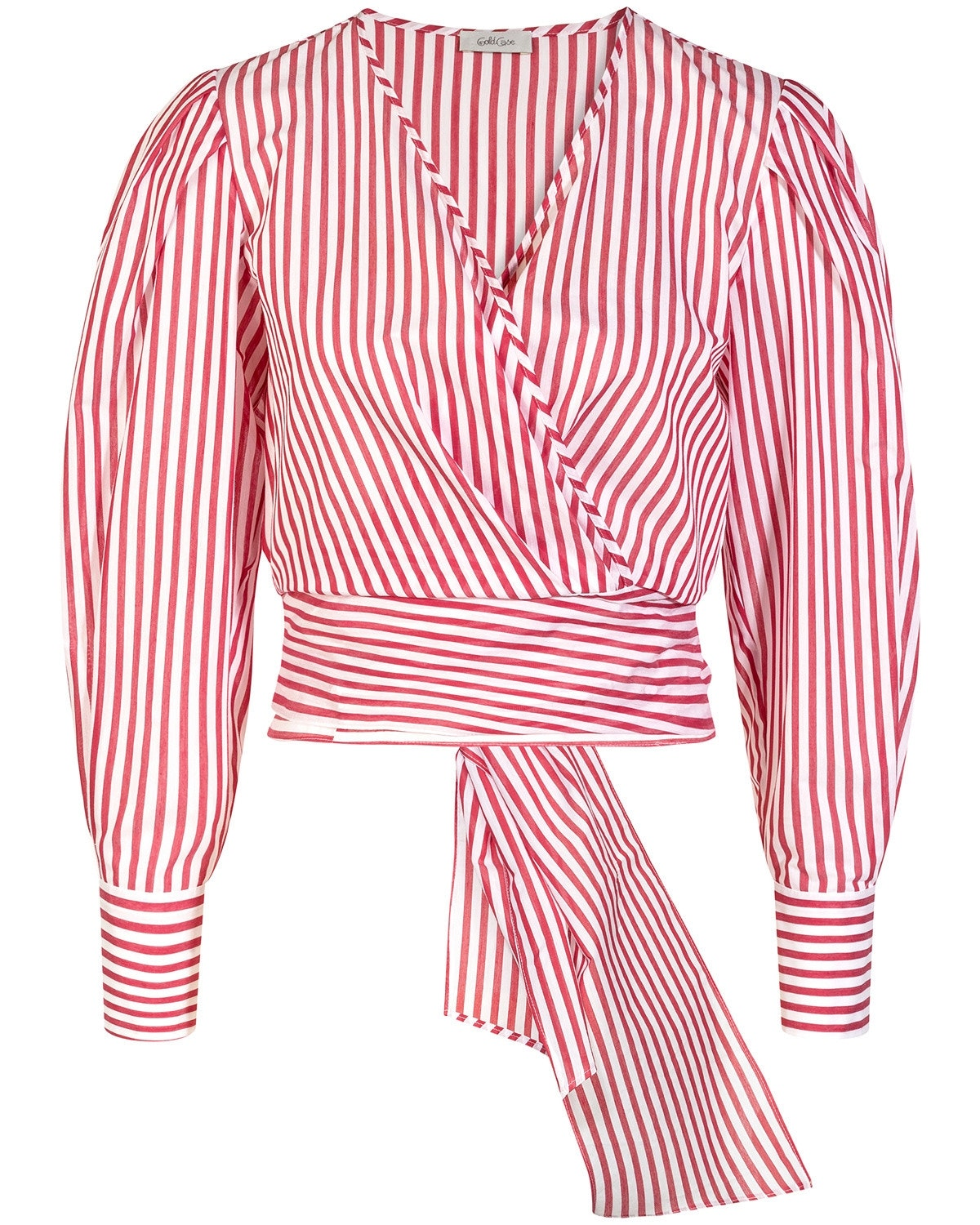 Gold Case, red Bluse, Stripes, Lodenfrey, Munich
