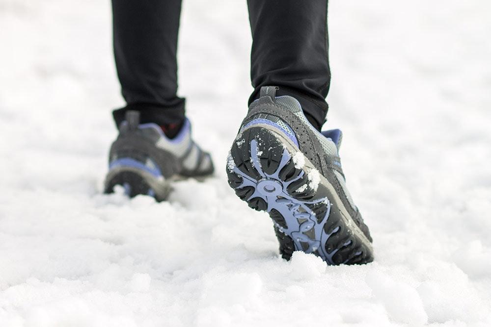 Winterlaufschuhe mit Profil und Gore-Tex-Membran
