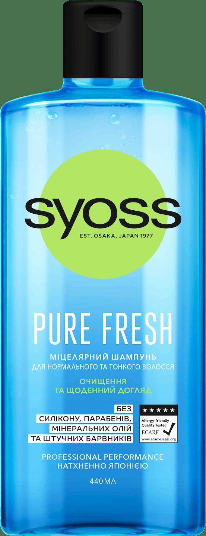 Syoss Pure Fresh Шампунь shot pack