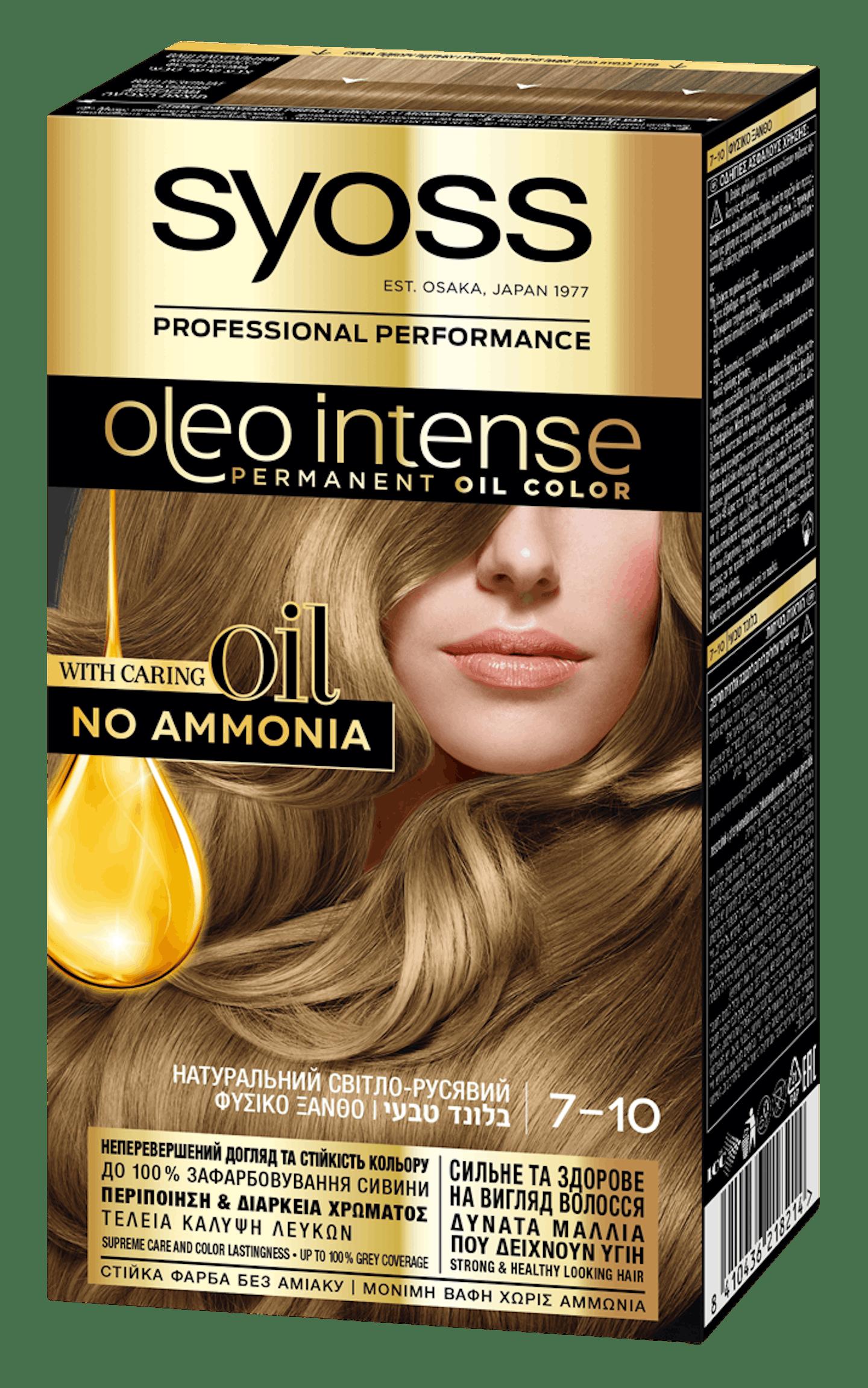 Syoss Oleo Intense Натуральний Світло-русявий 7-10