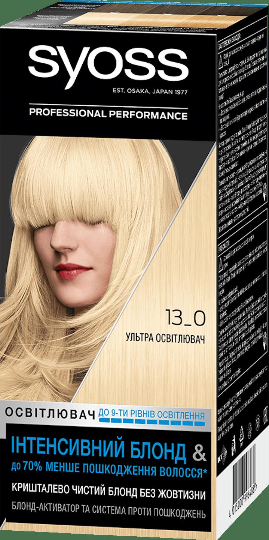 Стійка фарба для волосся Syoss Ультра Освітлювач 13-0 shot pack