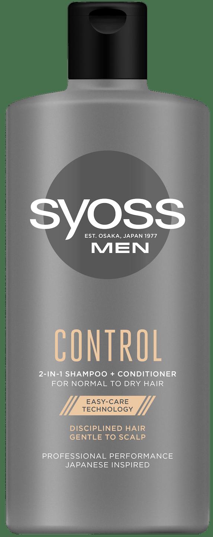 Syoss Men Control 2 в 1 Шампунь для чоловіків shot pack
