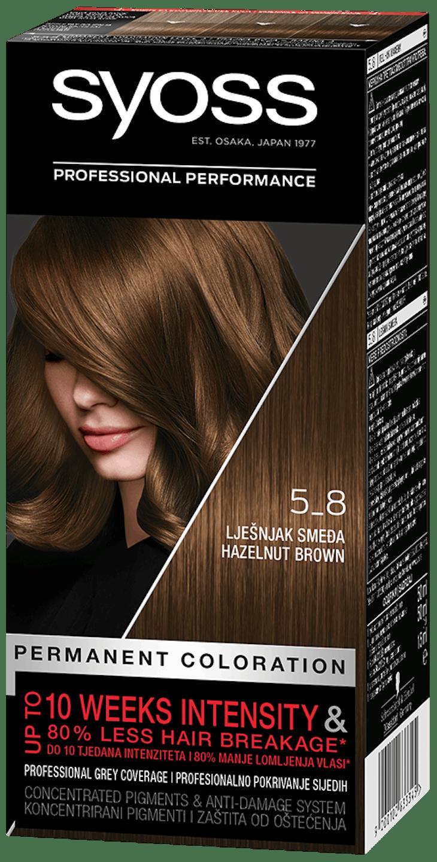 Стійка фарба для волосся Syoss Горіховий Світло-каштановий 5-8 shot pack