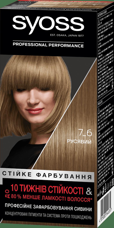 Стійка фарба для волосся Syoss Русявий 7-6 shot pack