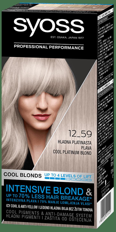 Стійка фарба для волосся Syoss Холодний Платиновий Блонд 12-59 shot pack