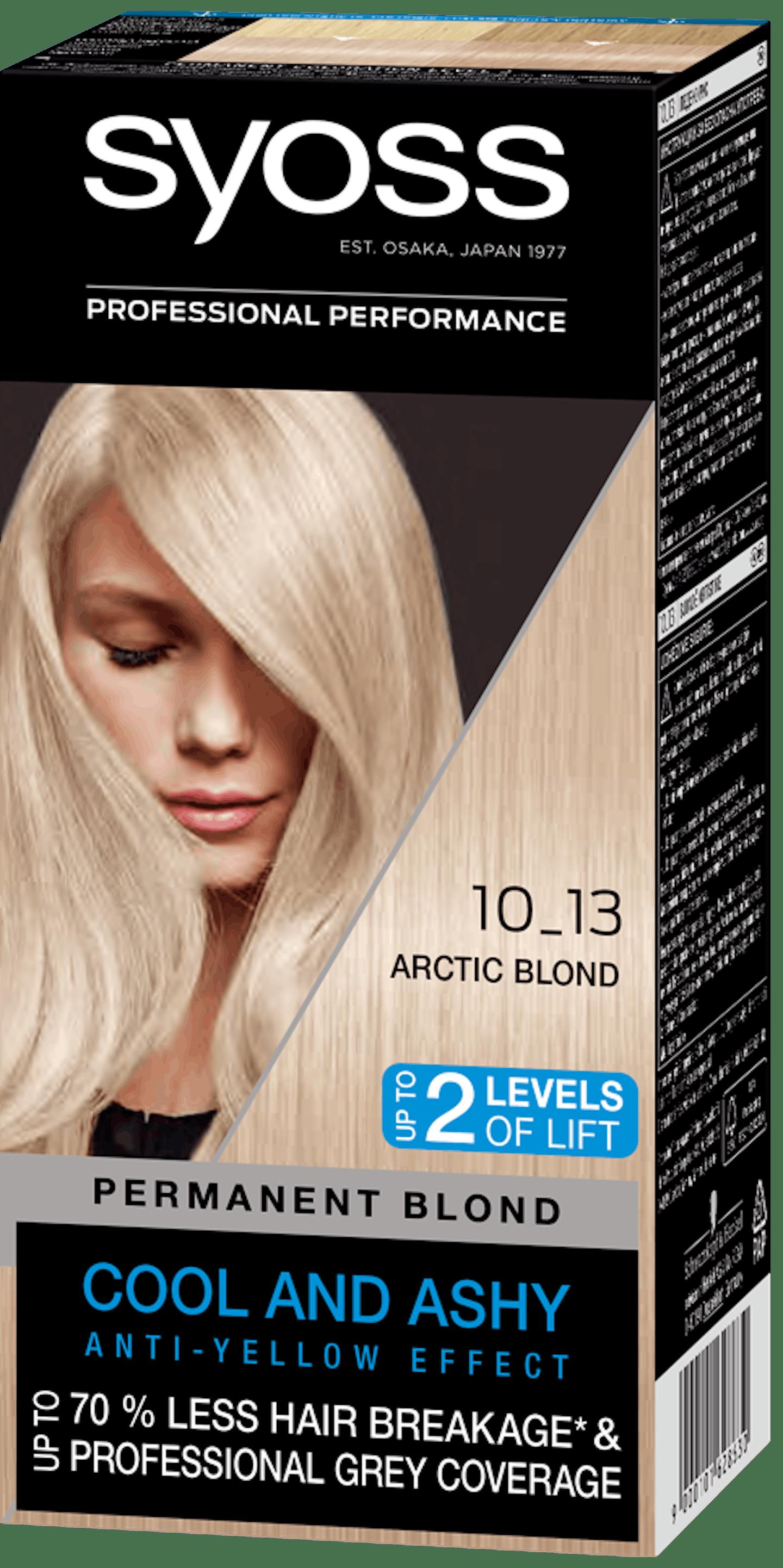 Стійка фарба для волосся Syoss Холодний Блонд 10-13