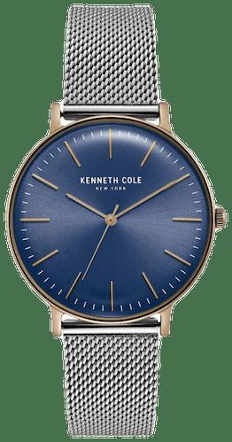 Cette montre KENNETH COLE se compose d'un Boîtier Rond de 38 mm et d'un bracelet en Acier Gris