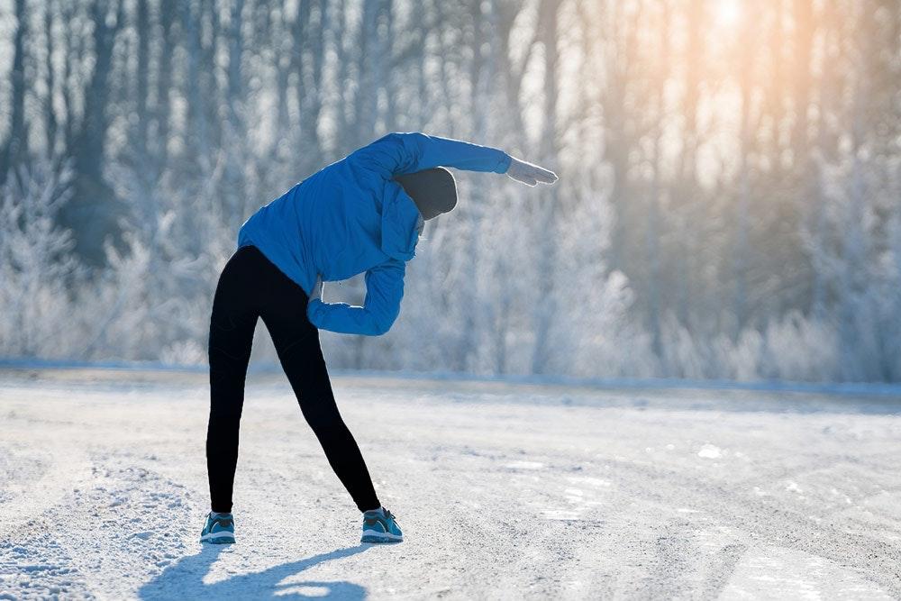 Warm-up und Stretching beim Laufen im Winter