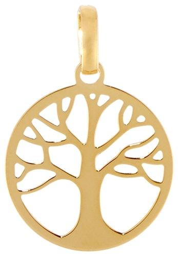 Cette Médaille CLEOR est en Or 375/1000 Jaune en forme d'Arbre de Vie