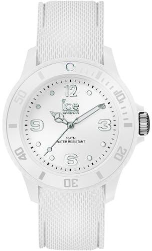 Cette montre ICE-WATCH se compose d'un boîtier Rond de 35 mm et d'un bracelet en Silicone Blanc