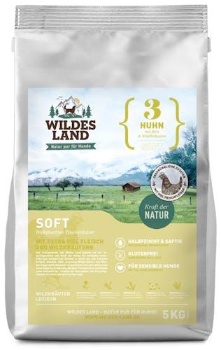 Wildes Land - Trockenfutter - Soft Huhn mit Reis und Wildkräutern (glutenfrei)