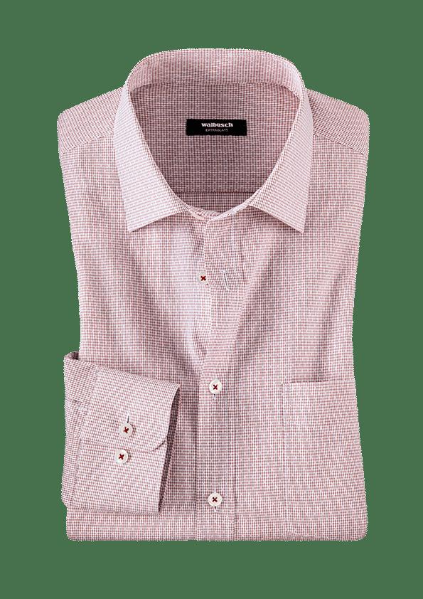 Gemustertes Hemd in einem Rosaton.