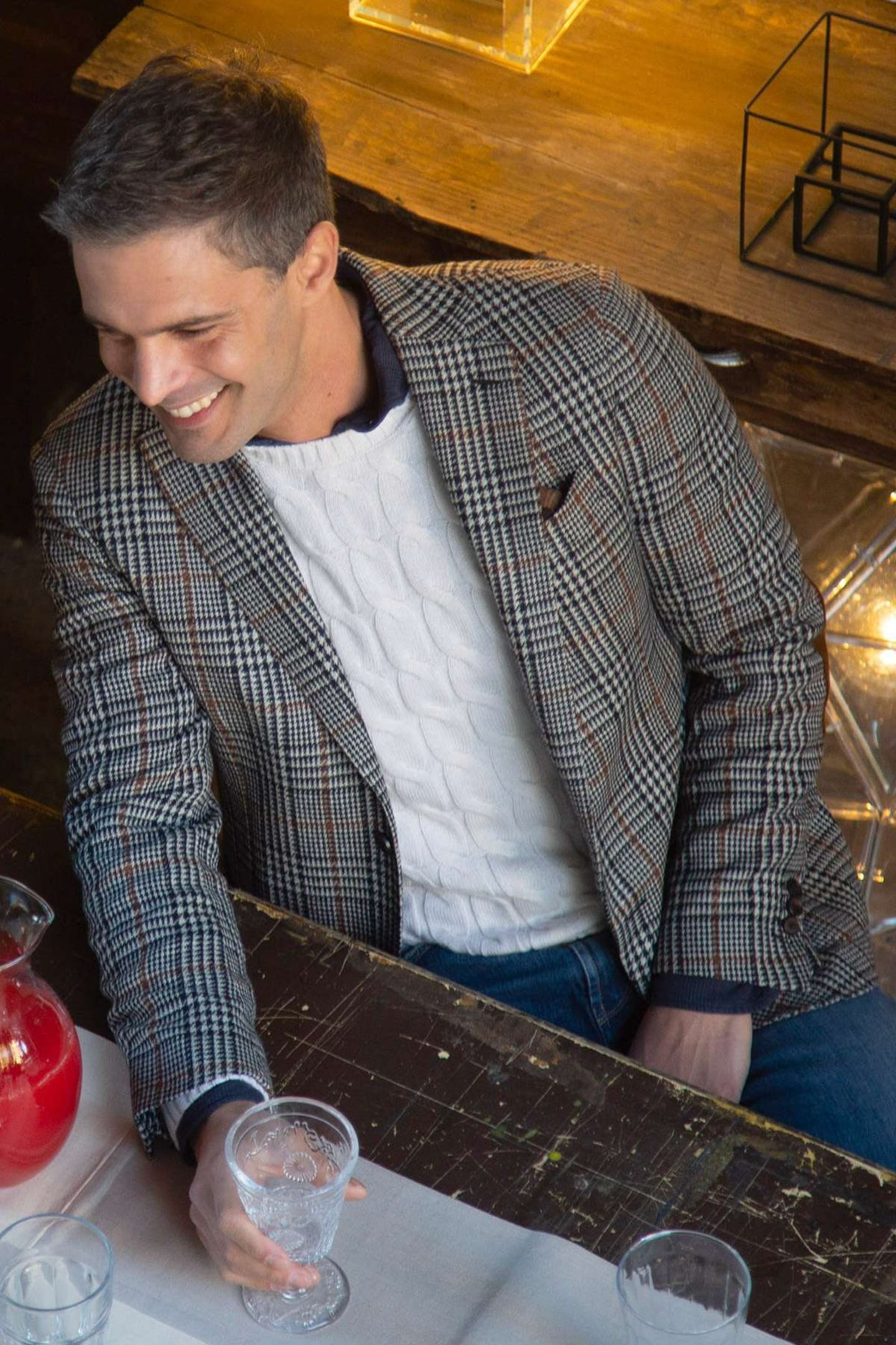 Prince of Wales fabric: How to wear glen plaid boggi milano jacket
