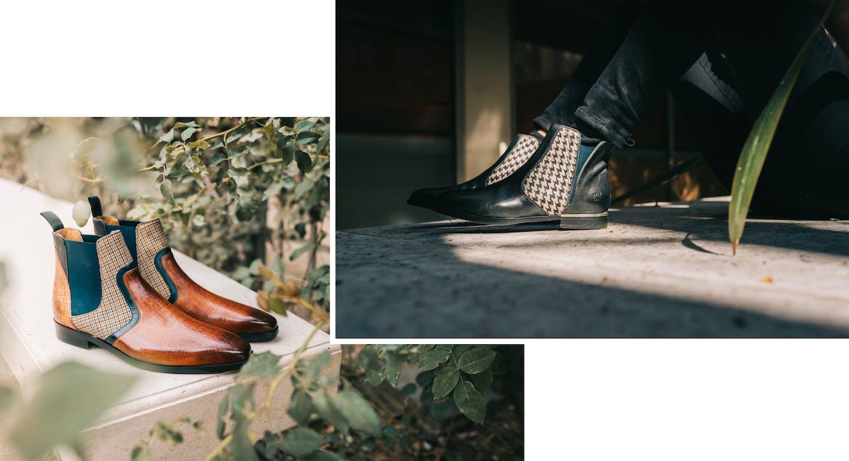Britische Retro-Trend Schuhe Melvin & Hamilton